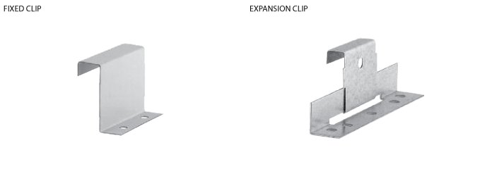 fiexd clip and expansion clip