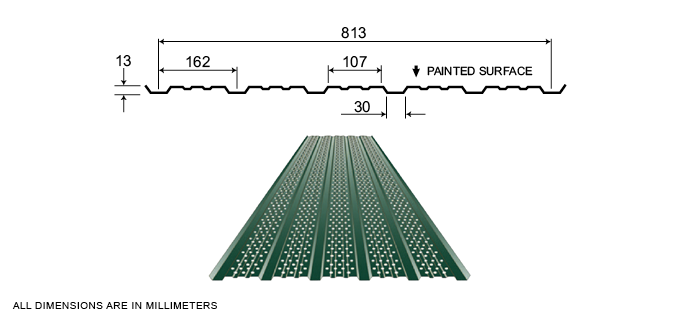 Agricultural Soffits - Vented Soffit CH5-32